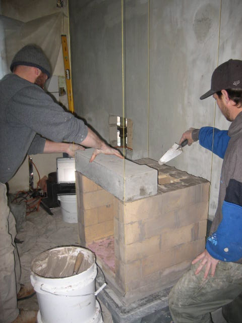 Forming the top of the fire box
