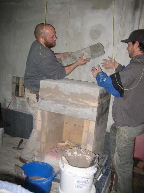 Building the floor of the oven