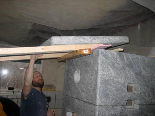 Mechanical leverage for 200 lb slab of rock